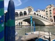 Rialto bridge. Actually wasn_t too busy at all.